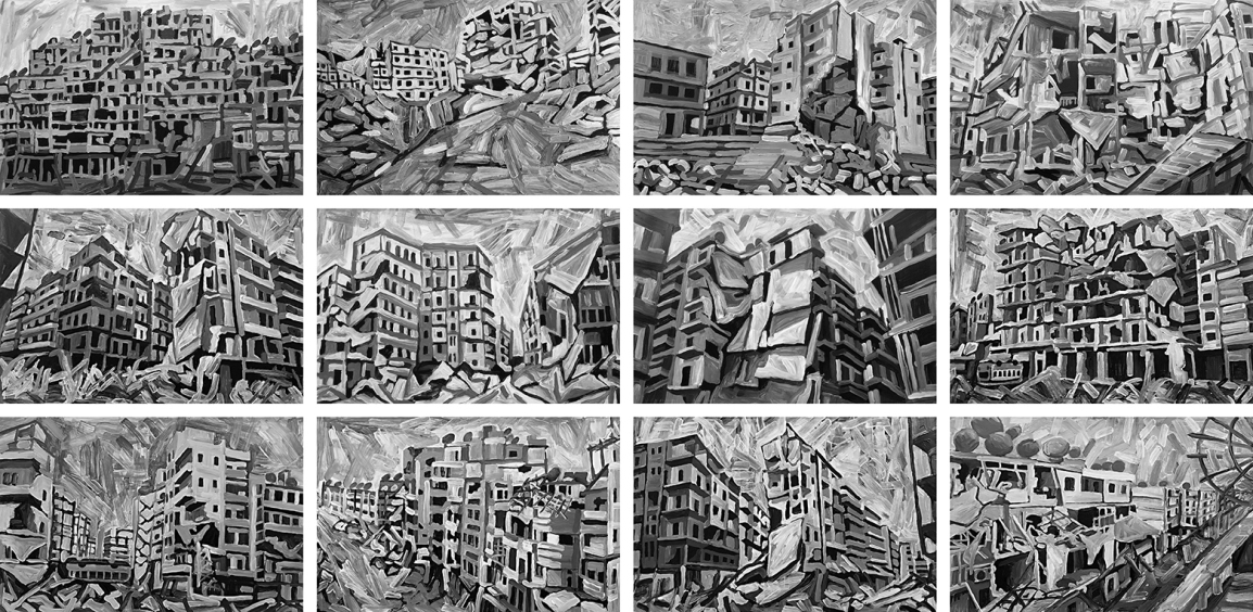 Aleppo-Urban-Landscapes-No11-12_12 underpaintings_web
