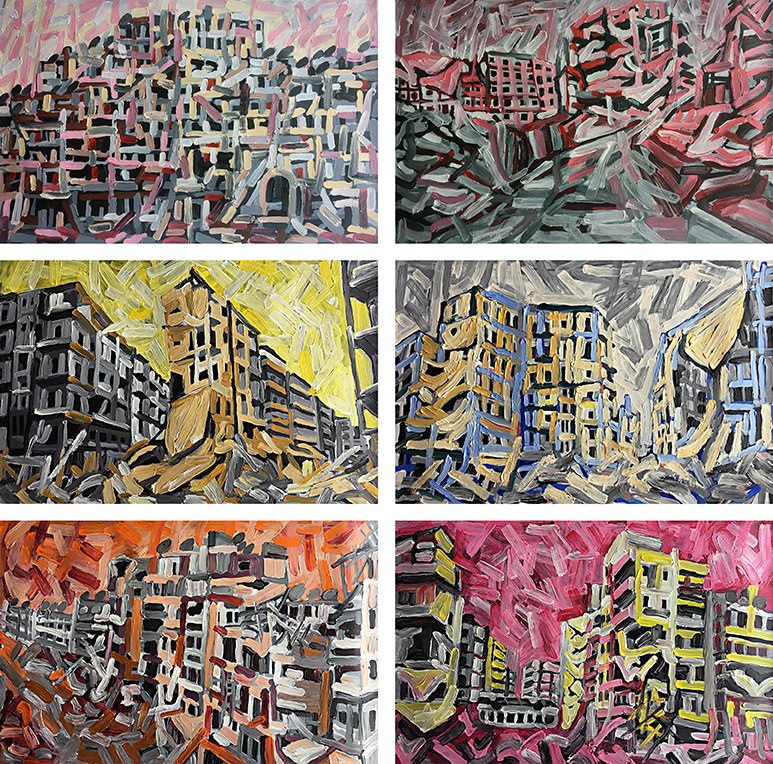 Aleppo-Urban-Landscapes-No11_6 paintings_35x35_web