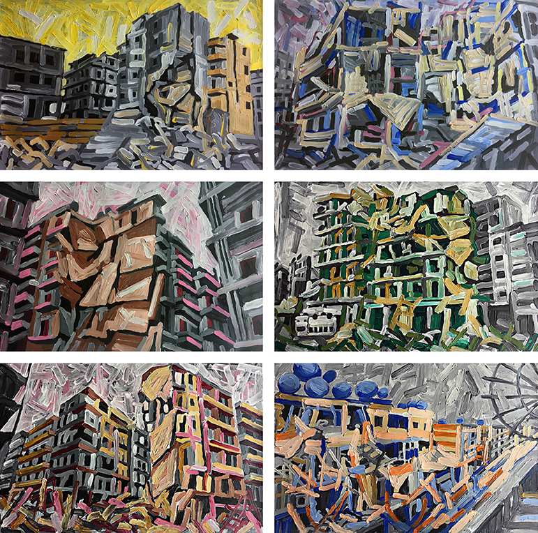 Aleppo-Urban-Landscapes-No12_6 paintings_35x35_web