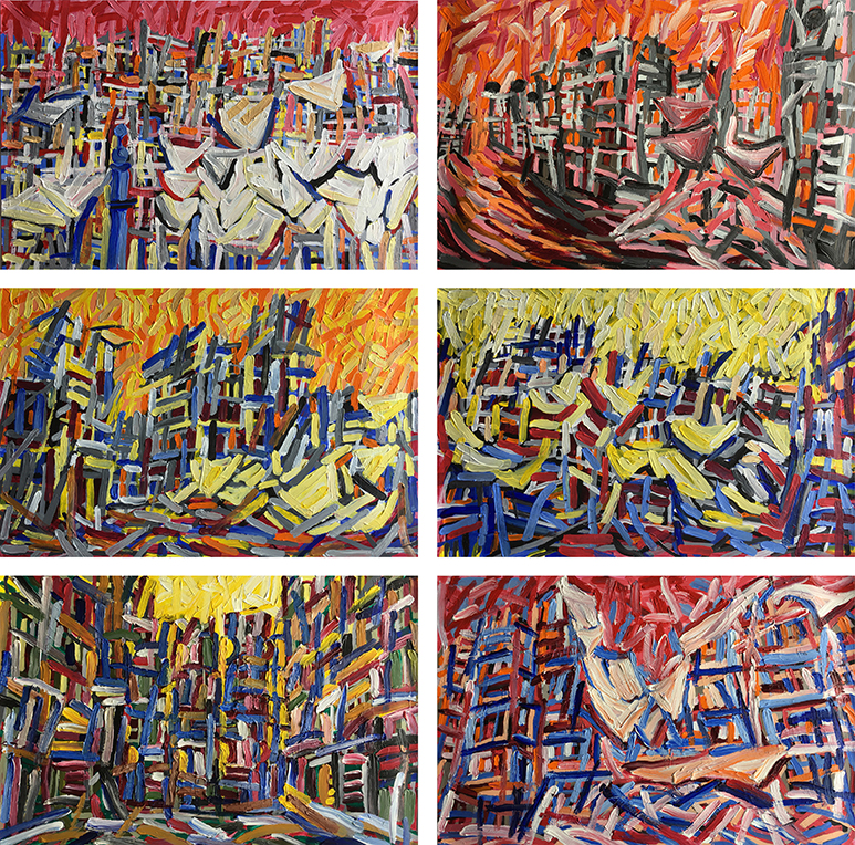 Aleppo-Urban-Landscapes-No5_6 paintings_35x35_web