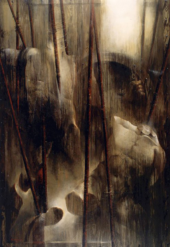 Badawi-Bachir-War-acrylic on canvas-195x135-2003