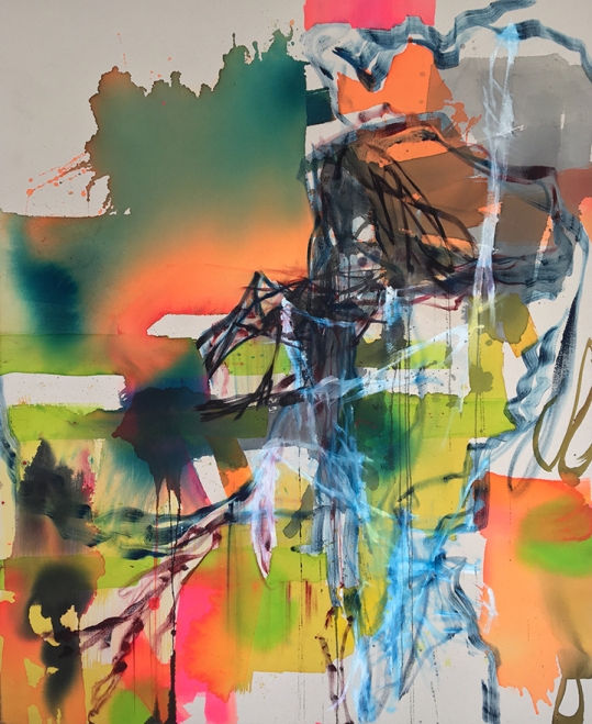 Cheney-Syncope-textile color oil on canvas-44x36_web