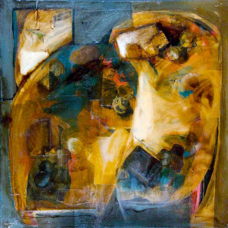 Dahdouh-Still Life-1-100X100cm-Mixed Media on canvas-2015