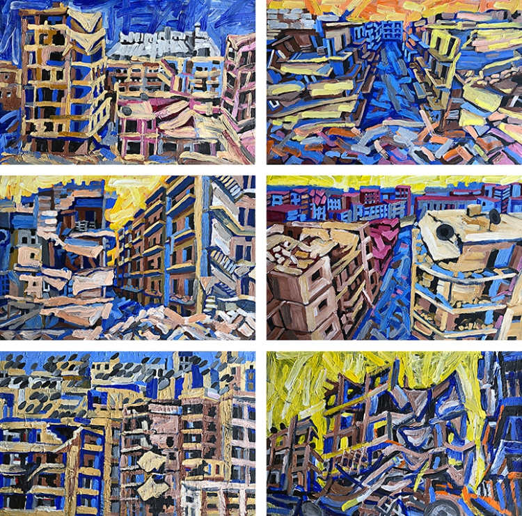 Aleppo-Urban-Landscapes-No15_6 paintings_35x35_web