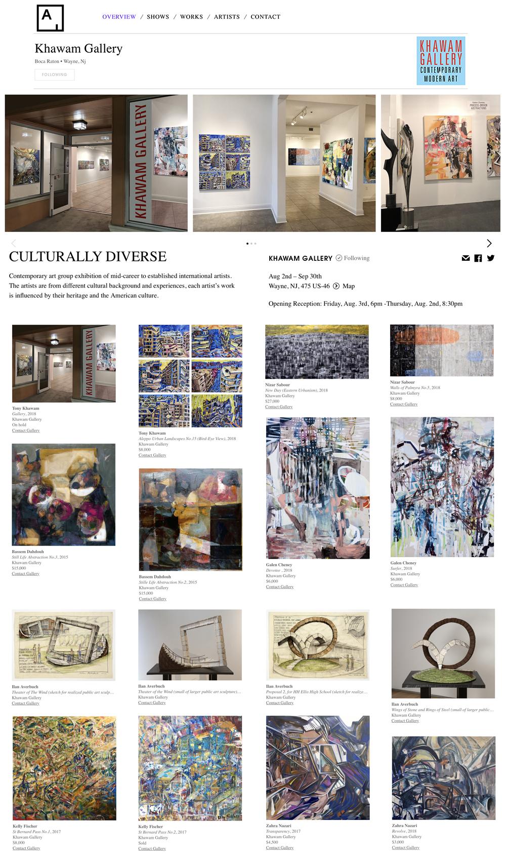 Khawam Gallery-Artsy-Culturally Diverse Exhibit