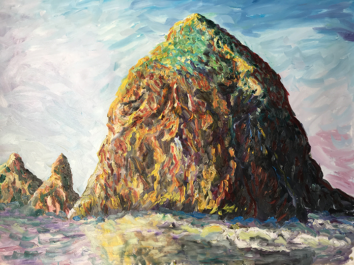 Whyman-Haystack Rock cannon beach Oregon-No1-oil 48x60_18_web