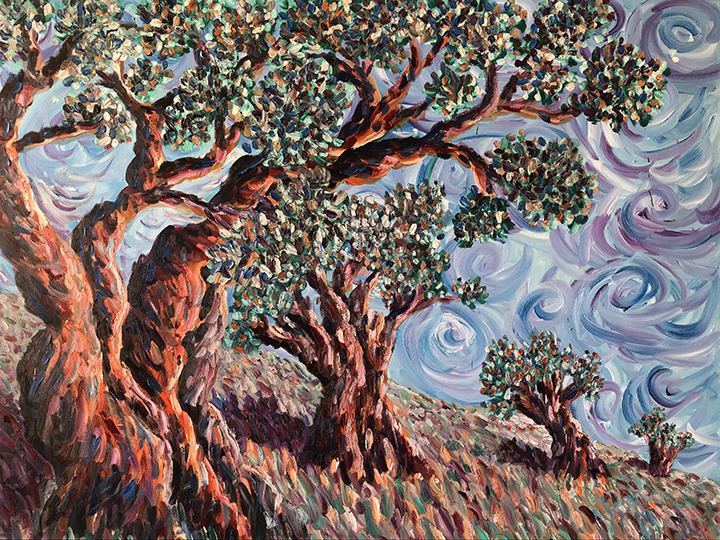 Whyman-Olive Trees-Midday on the Mount-oil 48x60_18_web