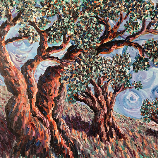Whyman-Olive Trees-Midday on the Mount_square