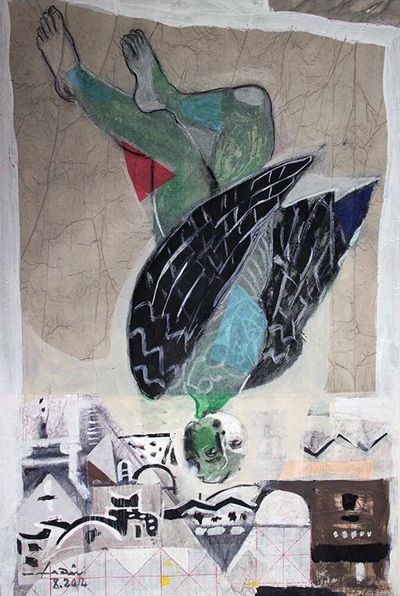 Shahda-Damascus-Icarus-mixedmedia-45x36_14_web