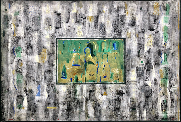 Sabour-Icon Past-Present-acrylic-gold leaf-31x46.5in_16_web